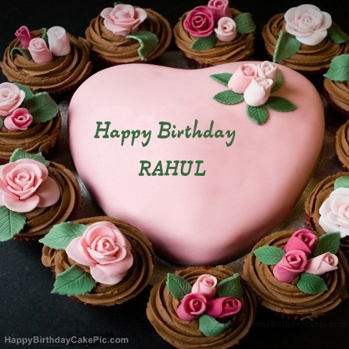 Happy birthday rahul cake image hd simplexpict1st pink birthday cake for rahul publicscrutiny Image collections