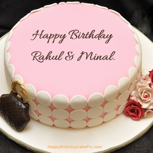 Happy birthday rahul cake images download driveeapusedmotorhome write name on pink birthday cake publicscrutiny Image collections