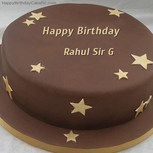 Happy birthday cake rahul sir happy birthday rahul sir cake image chocolate stars birthday cake for rahul sir g publicscrutiny Image collections