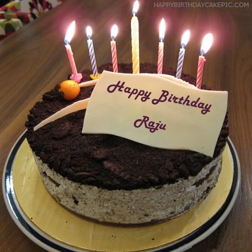 Cake Images With Name Raju : Cute Birthday Cake For Raju