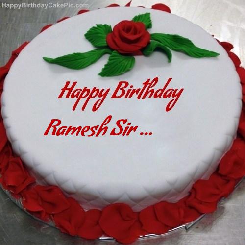 Ramesh Birthday Cake Image