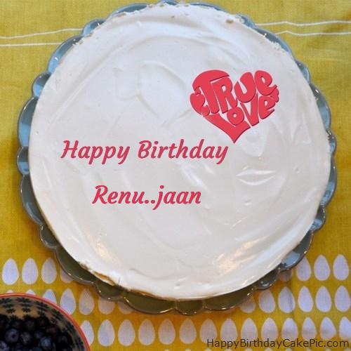fabulous happy birthday cake for renu jaan on birthday cake with name renu