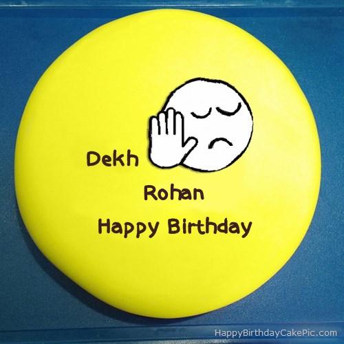 Cake Images With Name Rohan : Dekh Bhai Birthday Cake For Rohan