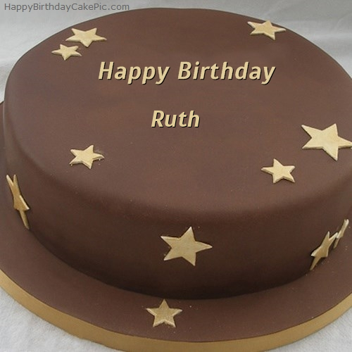 write name on Chocolate Stars Birthday Cake