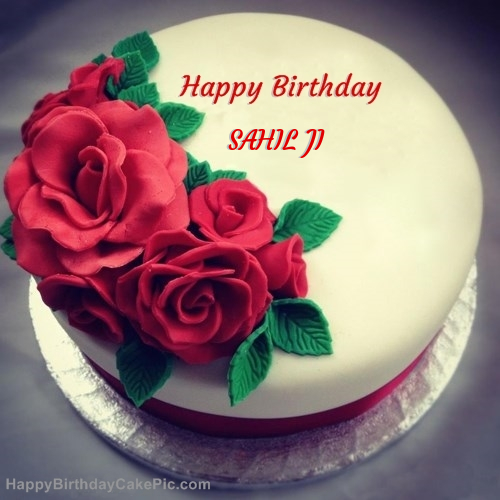 Cake Images With Name Sahil : Roses Birthday Cake For SAHIL JI