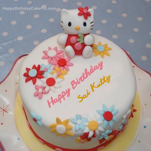 Hello Kitty Birthday Cake For Sai Kutty @saisantoshlov i want to wish you all the love and happiness in the world , happy birthday. hello kitty birthday cake for sai kutty