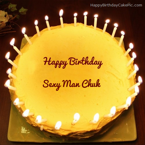 Marvelous Candles Birthday Cake For Sexy Man Chuk Funny Birthday Cards Online Fluifree Goldxyz
