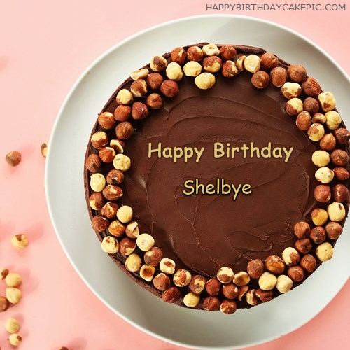 write name on Chocolate Nuts Birthday Cake
