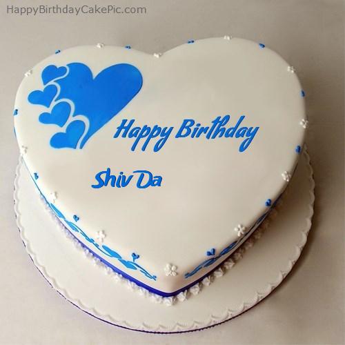 happy birthday cake for shiv da on birthday cake name shiva