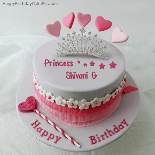 Birthday Cake Images With Name Shivani : Princess Birthday Cake For Shivani G
