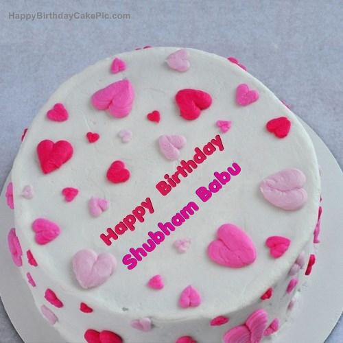 Cake Images With Name Shubham : Little Hearts Birthday Cake For Shubham Babu