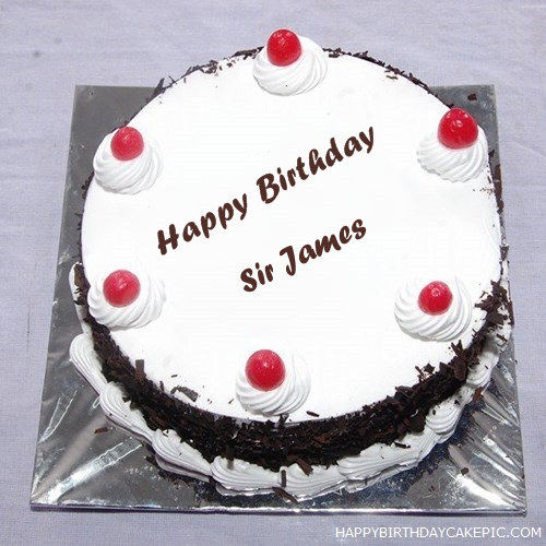 Black forest birthday cake for sir james write name on black forest birthday cake thecheapjerseys Gallery