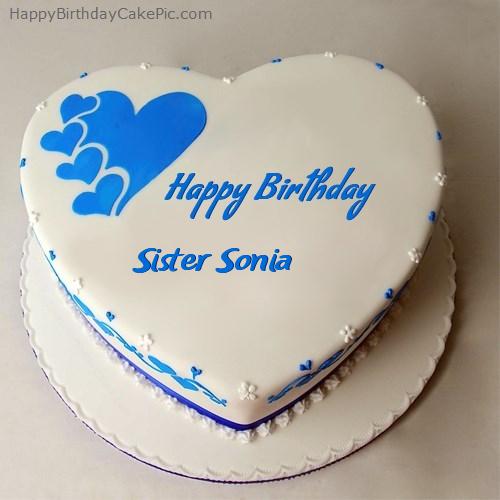 Terrific Happy Birthday Cake For Sister Sonia Funny Birthday Cards Online Ioscodamsfinfo