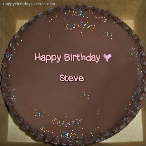 Chocolate Happy Birthday Cake For Steve