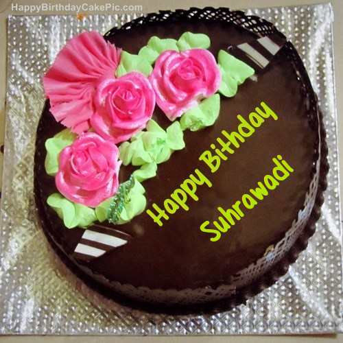 write name on Chocolate Birthday Cake