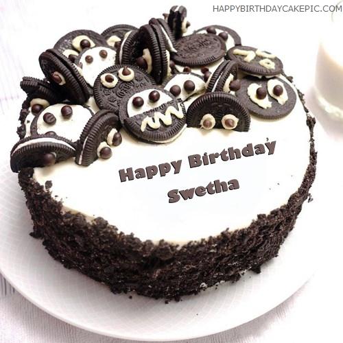 Cake Images With Name Prasad : Oreo Birthday Cake For Swetha