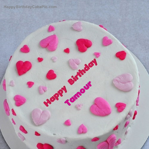 write name on Little Hearts Birthday Cake