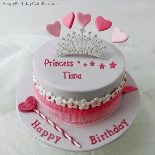 Awesome Princess Birthday Cake For Tiana Funny Birthday Cards Online Elaedamsfinfo