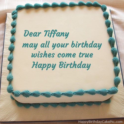 Excellent Happy Birthday Cake For Tiffany Funny Birthday Cards Online Overcheapnameinfo
