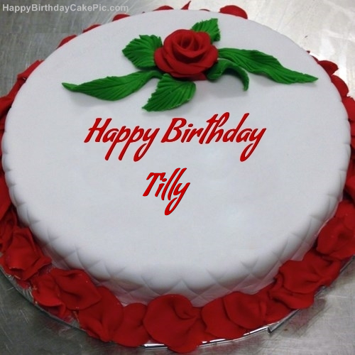 write name on Red Rose Birthday Cake