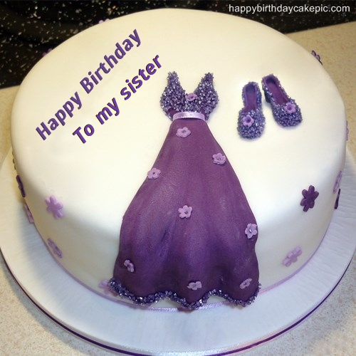 Birthday cakes for sister with name cake image diyimages dress birthday cakes for s to my sister publicscrutiny Images