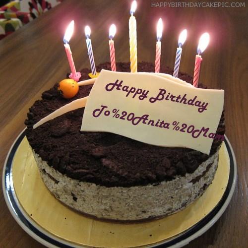 Happy Birthday Cake Name Anita Image Hitman Game