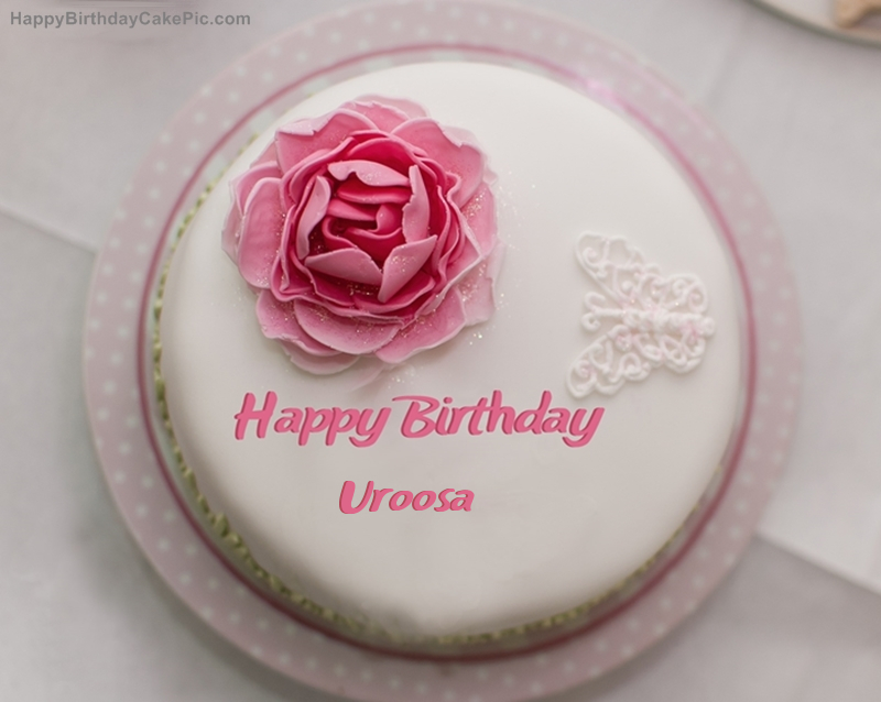 Birthday Cake With Name Uroosa ~ Rose birthday cake for uroosa