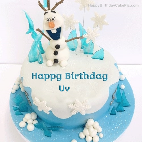 Wondrous Frozen Olaf Birthday Cake For Uv Personalised Birthday Cards Veneteletsinfo