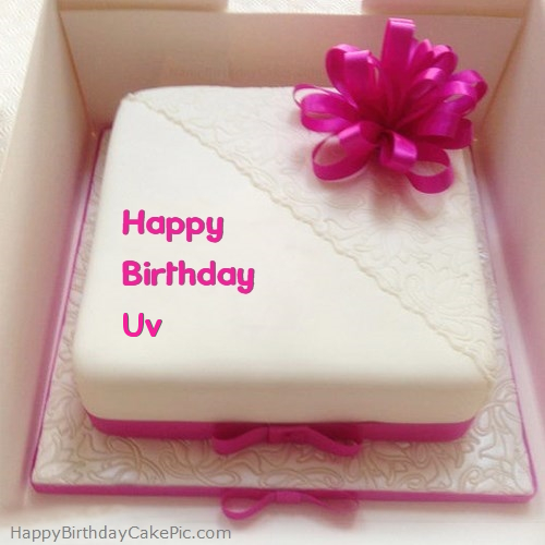 Astonishing Pink Happy Birthday Cake For Uv Personalised Birthday Cards Veneteletsinfo