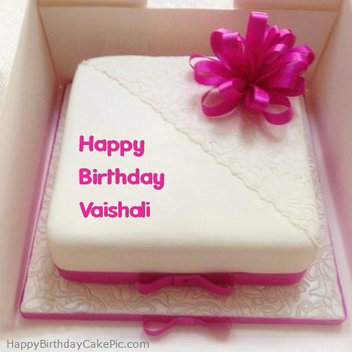 Pink Happy Birthday Cake For Vaishali