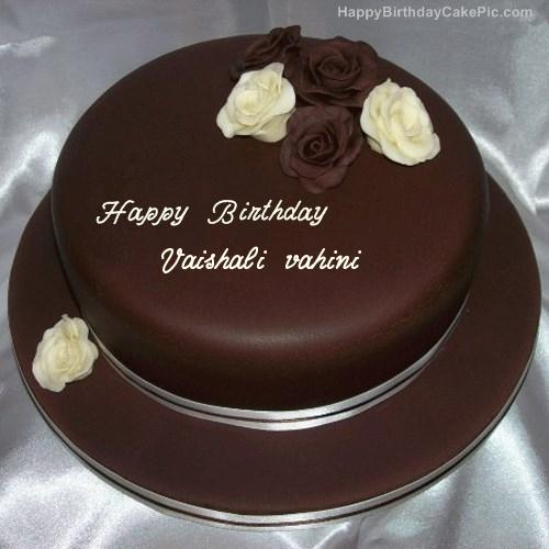 Rose Chocolate Birthday Cake For Vaishali Vahini