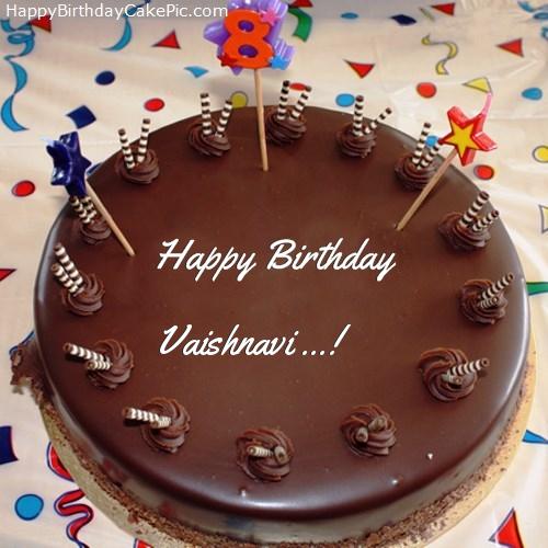 8th Chocolate Happy Birthday Cake For Vaishnavi