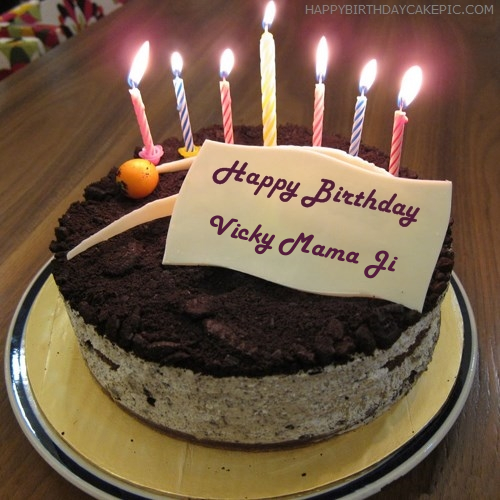 Birthday Cake Images With Name Vicky : Cute Birthday Cake For Vicky Mama Ji
