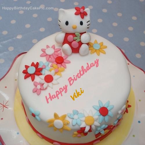 Remarkable Hello Kitty Birthday Cake For Viki Funny Birthday Cards Online Aeocydamsfinfo