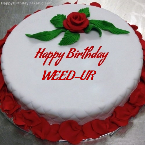Red Rose Birthday Cake For WEEDUR