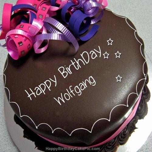 Happy Birthday Chocolate Cake For Wolfgang