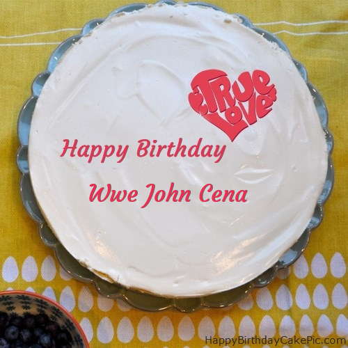 Admirable Fabulous Happy Birthday Cake For Wwe John Cena Personalised Birthday Cards Beptaeletsinfo