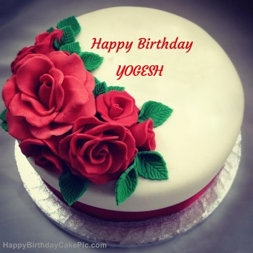 Cake Images For Yogesh : Roses Birthday Cake For YOGESH