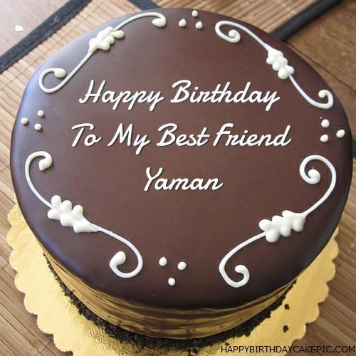 best chocolate birthday cake for yaman on birthday cake with name yaman