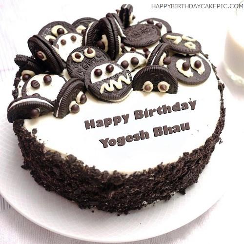 Oreo Birthday Cake For Yogesh Bhau