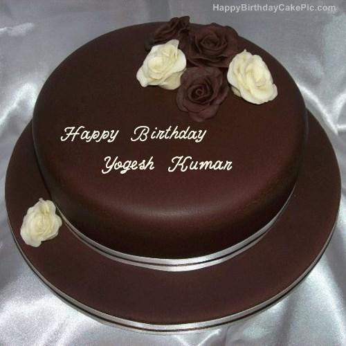 Rose Chocolate Birthday Cake For Yogesh Kumar