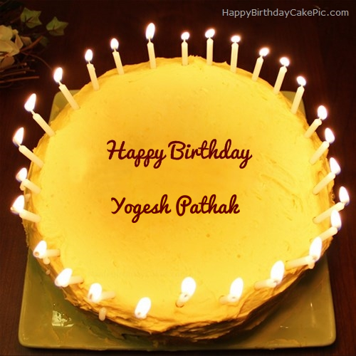 Candles Birthday Cake For Yogesh Pathak