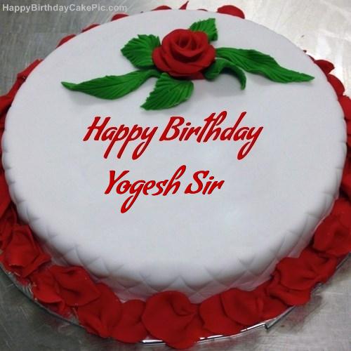 Red Rose Birthday Cake For Yogesh Sir