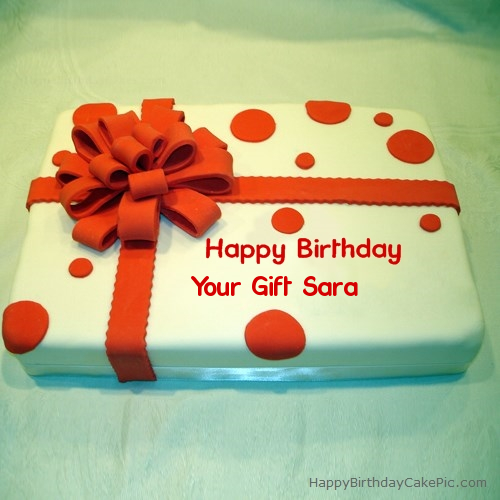 Birthday cake wrapped for your gift sara write name on birthday cake wrapped negle Choice Image
