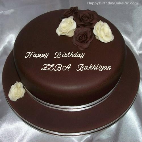 Write Name On Rose Chocolate Birthday Cake