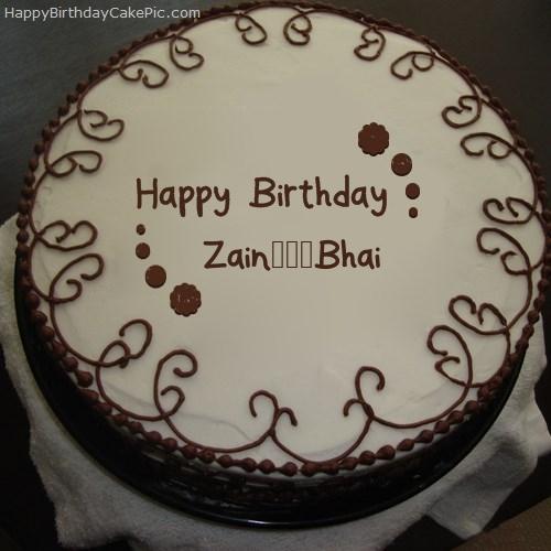 Border Chocolate Cake For Zain Bhai