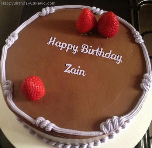 Chocolate Strawberry Birthday Cake For Zain