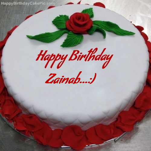 Red Rose Birthday Cake For Zainab
