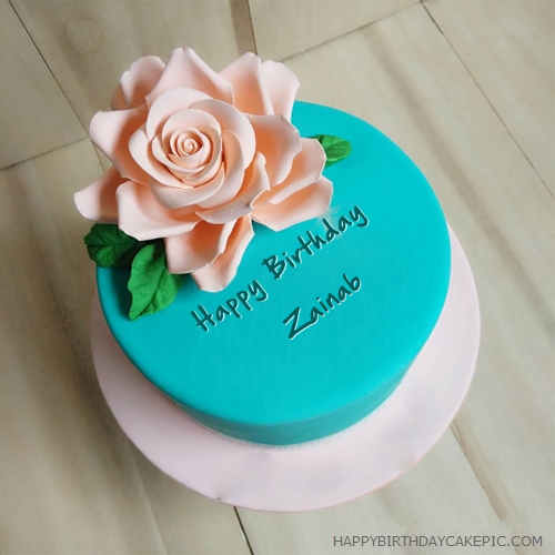 Beautiful Best Birthday Cake For Zainab