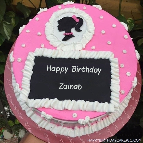 Images Of Cake With Name Zainab : Decorated Strawberry Cake For Zainab
